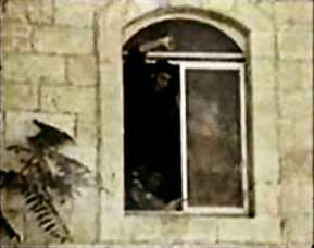 The window of the room where the soldiers were lynched